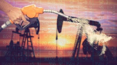 Rise in oil prices after report indicated drop in U.S. stocks